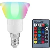 3W Projecteur LED RGB l'ampoule LED couleur RVB avec 16 couleurs changeantes 4 effets d'éclairage avec télécommande(E14)