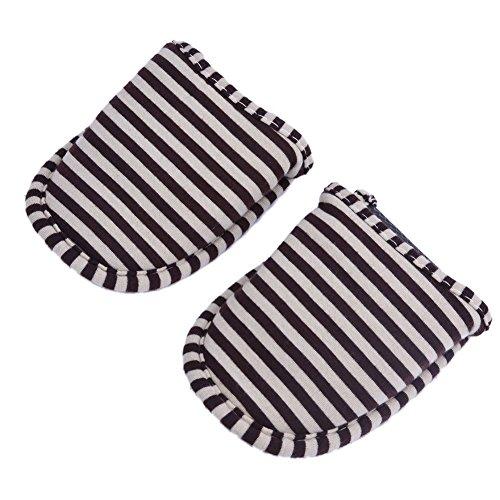 coulisse Gray borsa pantofole 1 Stripes donna antiscivolo nbsp;paio per for viaggio for con casa Stripes indoor Women outdoor Flight Coffee hotel di ripiegabile Women rXWZ4a1X