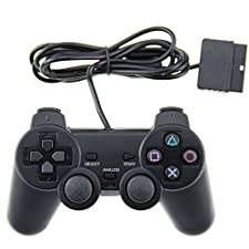 Mosuch PS2 Wired Controller for Sony PlayStation 2 Black