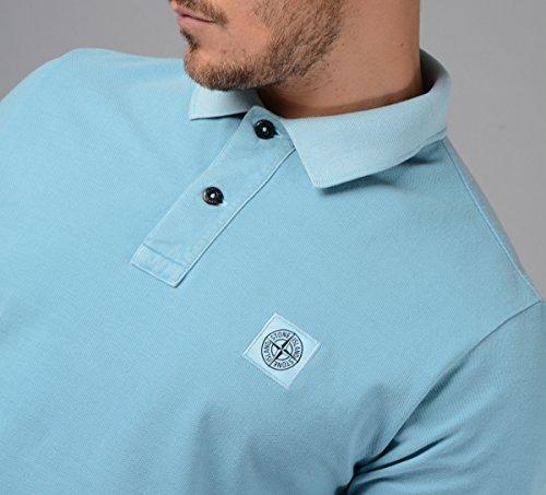 Stone Island Herren Polo, Gewaschen blau - 22S67