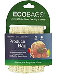 ECOBAGS Market Collection Organic Net Drawstring Bag, Large (Pack of 24)