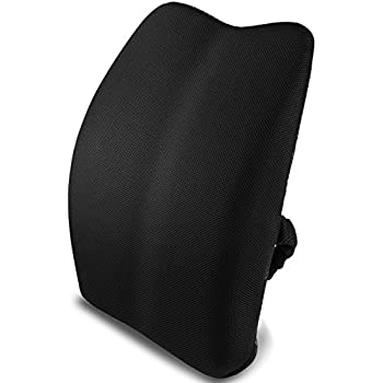 Superior Memory Foam Lumbar Support Back Cushion Pillow For Lower Back Pain Properly  Align The Spine,