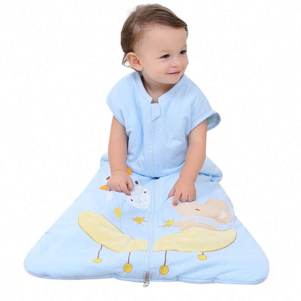 in Cotone Blu Blau-Elefant 80CM//0-12Monate per Bambine e Bambine schlabigu Sacco Nanna Invernale 2,5 tog Cane e Elefante