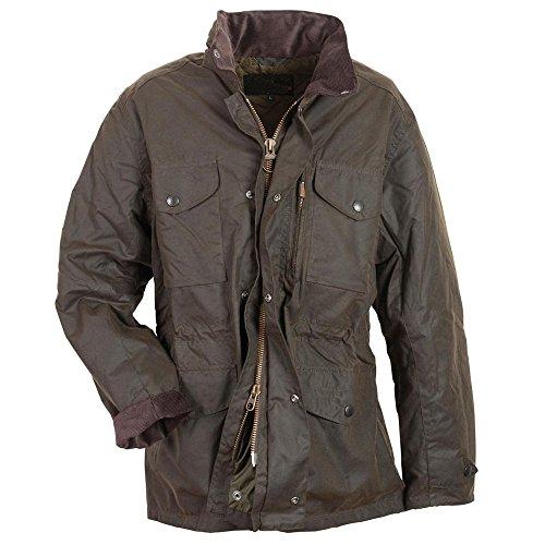 Waxed Military Jacket - Mens Classic Olive Flight Aviator Bomber Long Sapper Waxed Jacket