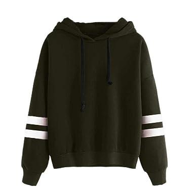 Amcool Oversize Pullover Damen, Lange Ärmel Kapuzenpullover Sweatshirt  Jumper Mit Kapuze Hoodie (S, f46dfe7175