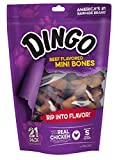 Cheap Dingo Beef Flavored Mini Rawhide Bones For Small/Toy Dogs, 21-Count