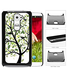 Tree With Green Leaves And Birds Nesting Hard Plastic Snap On Cell Phone Case LG G2