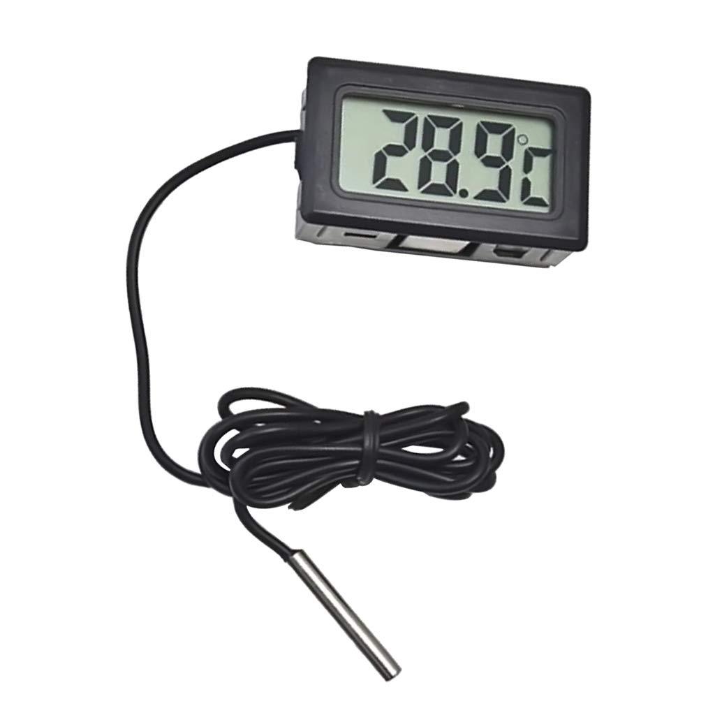 Blanco F Fityle 1 Pc Term/ómetros Digitales LCD para Medir Temperatura Dentro de Humedad de Temperatura Interior