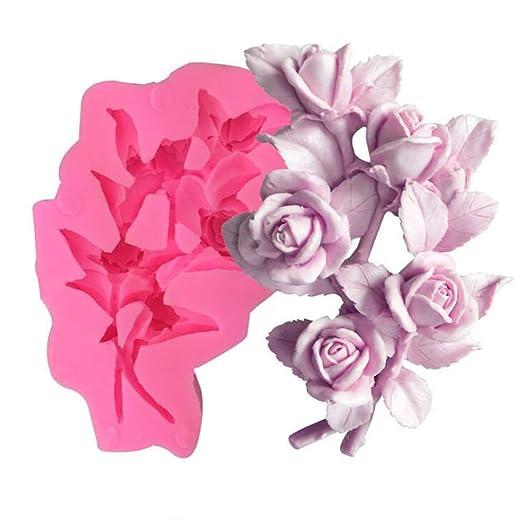 Molde de silicona para hacer jabón o velas en forma de flor ...