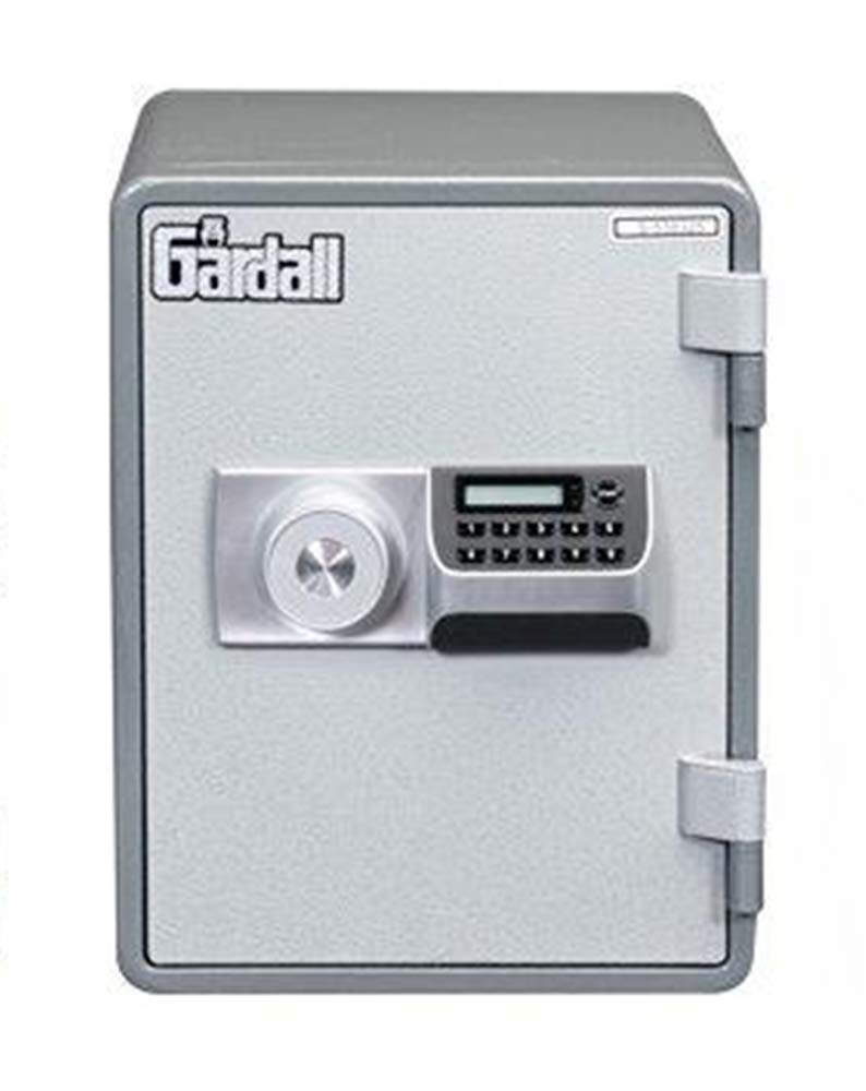 Gardall MS119-G-E w One Hour Vertical Microwave Style Fire Safe with Electronic Lock, Grey