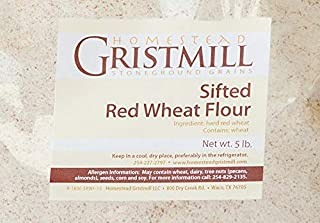 product image for Homestead Gristmill — Non-GMO, Chemical-Free, All-Natural Stone-ground Sifted Red Wheat Flour (5 lb), Artisanally Milled from Hard Red Wheat Berries