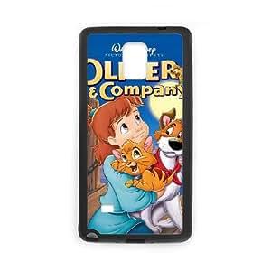 Oliver And Company 2 Funda Samsung Galaxy Note 4 Funda Caja del teléfono celular Negro E7Y1LP6V plástico caja del teléfono Borrar