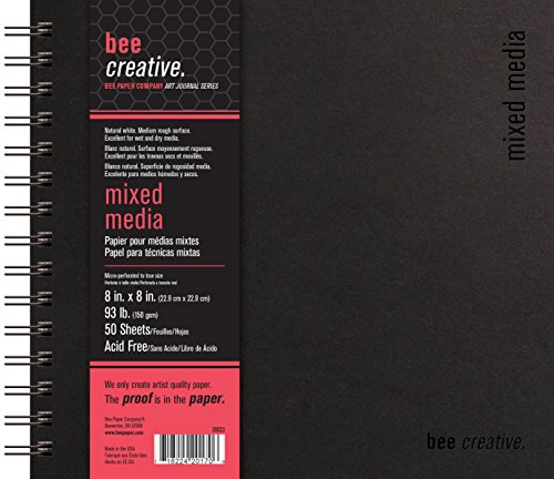 Mixed Media Journals - Bee Paper Company Bee Paper Bee Creative Mixed Media Book, 8