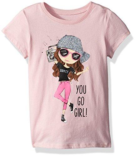 The Children's Place Big Girls' Dancer Graphic Tee, Serene Blush, L (Blush Girls)