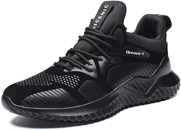 Meet World Zapatillas Deporte Hombres Running Zapatos Hombre Deportivos Casuales Zapatillas Running Hombre Auriculares Correr En Asfalto Calzado Deportivo Hombre,Negro,US8/UK7.5/EU41.5: Amazon.es: Hogar