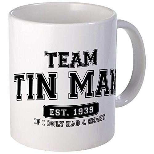 CafePress Team Tin Man- If I Only Had A Heart Mug Unique Coffee Mug, Coffee Cup (Oz Man Wizard Heart Of Tin)
