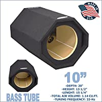BASS TUBE 10 PORTED SUB BOX PRO VENTED SUBWOOFER ENCLOSURE GROUND-SHAKER