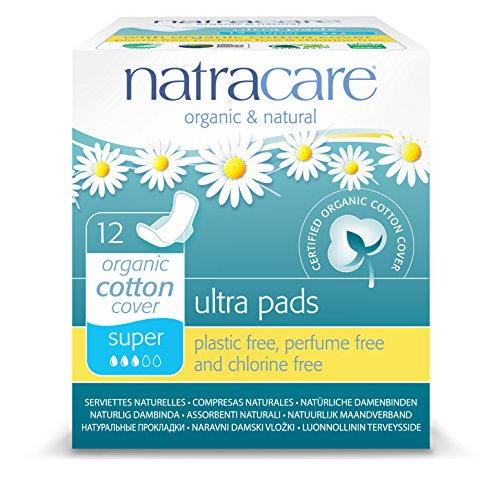 Natracare Natural Ultra Super Pad with Wings - 12-Pads per box (Pack of 12)
