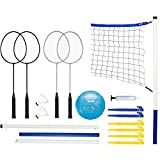 Franklin Sports Recreational Badminton and Volleyball Combo Set