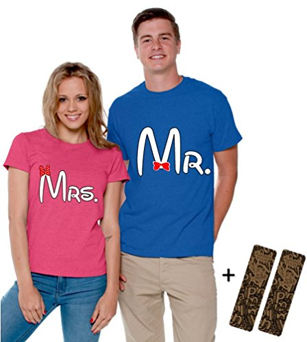c3dfe71721 Awkwardstyles Mr and Mrs Matching Couple Shirts Valentine's Day + 2 Bookmark