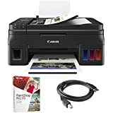 Canon (2316C002AA) PIXMA G4210 Wireless Megatank All-in-One Printer w/Scanner, Copier and Fax + Corel Paint Shop Pro X9 Digital Download Card + High Speed 6-foot USB Printer Cable