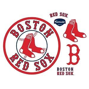Amazon Com Mlb Boston Red Sox Alternate Logo Wall