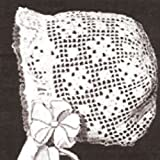 Vintage Crochet PATTERN to make - Antique Baby Cap Hat Bonnet in Filet Crochet. NOT a finished item. This is a pattern and/or instructions to make the item only.