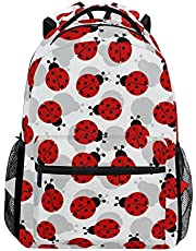 "MOFEIYUE Van Gogh Art Starry Night Backpacks College Shoulder Bag Casual Travel Daypack Hiking Camping Multicoloured Ladybug 11.5""×8""×16"""