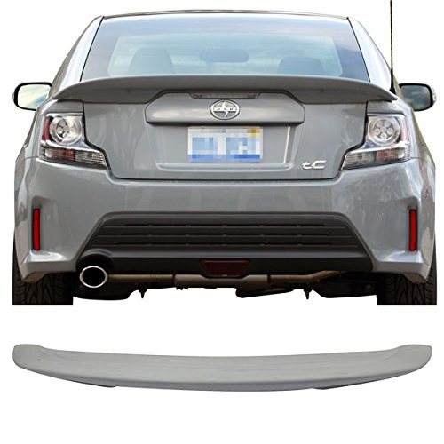 Trunk Spoiler Fits 2011-2016 Scion tC | OE Style ABS Unpainted Black Boot Lip Deck Lid Rear Spoiler Wing Other Color Available By IKON MOTORSPORTS | 2012 2013 2014 2015