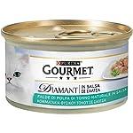 PURINA-GOURMET-DIAMANT-Umido-Gatto-Squisite-Falde-di-Polpa-di-Tonno-in-Salsa-24-lattine-da-85g-ciascuna-confezione-da-24x85g