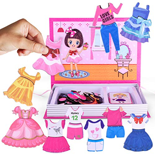 ZMZS Dress-up Puzzle, Play Set for Girls Matching Dress-Up Dolls Educational Toy Puzzle Games for Kids -