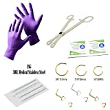 14-Piece Nose Piercing Kit - 6 Nose Piercing
