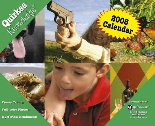Quirkee Knowledge (TM) 2008 Calendar