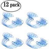 Laocui Cheek Retractors Mouth Opener for Dental Use and Party Fun Games 12 Pack, C-shape Size M, Blue