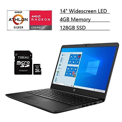 HP 14″ Chromebook, FHD Laptop, Intel Celeron N4000, 4GB Memory – 32GB eMMC, Natural Silver, Class Online Ready, Chrome OS, Bundled with TSBEAU Light & 4-Port USB 3.0 Hub & 32GB Micro SD Card