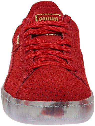 Shoe White PUMA Women's High Risk Athletic V2 Perf Classic Suede Red xgHvHAapqW