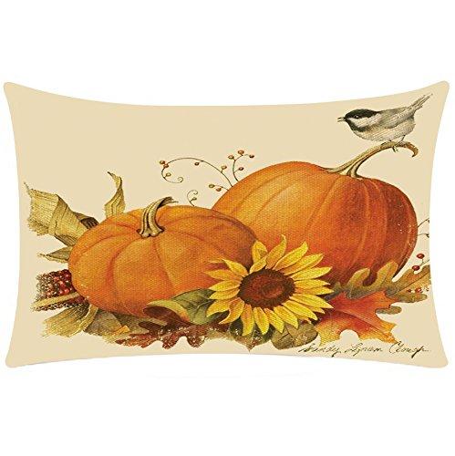 2017 New! Litetao Halloween Rectangle Printed Cover Decor Pillow Case Sofa Waist Throw Knitted Cushion Cover (I) (2017 Halloween Date)