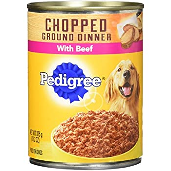PEDIGREE Meaty Ground Dinner Wet Canned Dog Food Multipack featuring (6) Filet Mignon & (6) Beef Dog Food