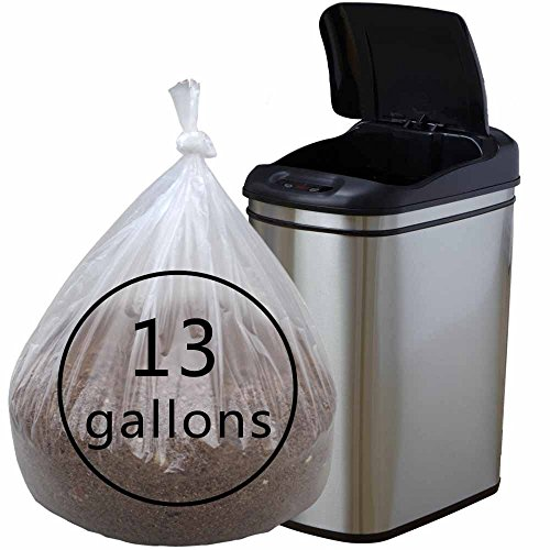 Cand Extra Strong 13 Gallon Clear Trash Bags, 90 Counts