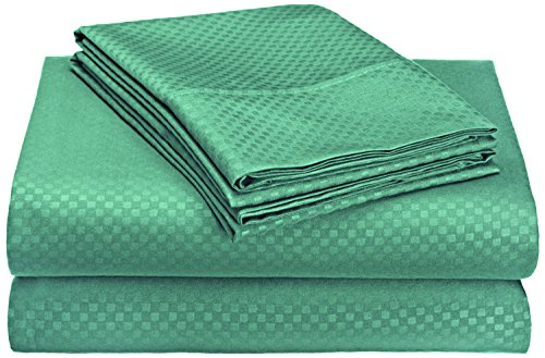 Organic Earth Egyptian Comfort 1800 Series Eco-Friendly 6 Piece Sheet Set, King, Emerald