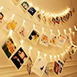Smart-H 30 LED Photo Clip Lights String Lights Battery Powered 10.5 Ft Wall Decoration Fairy Lights Home/Party/Christmas Decor Hanging Photos Paintings Pictures Card Memo