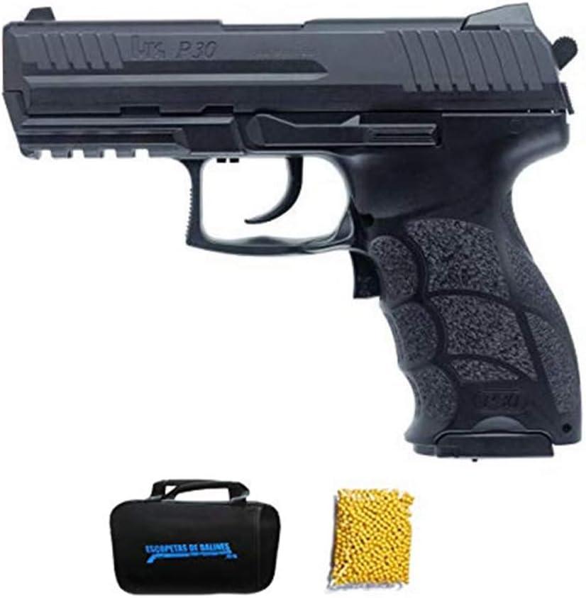HK P30 Umarex Pistola de Airsoft Calibre 6mm (Arma Aire Suave de Bolas de plástico o PVC). Sistema: Eléctrico < 0.5 Julios.