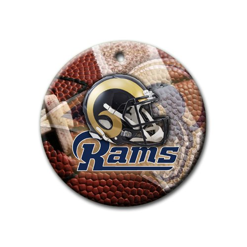 Rams Ornament round porcelain Christmas Great Gift Idea St. Louis Rams Football