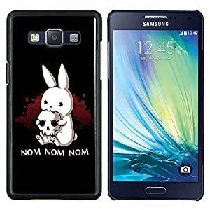 LECELL--Funda protectora / Cubierta / Piel For Samsung Galaxy A5 A5000 -- Nom Nom Nom divertido Killer Rabbit --