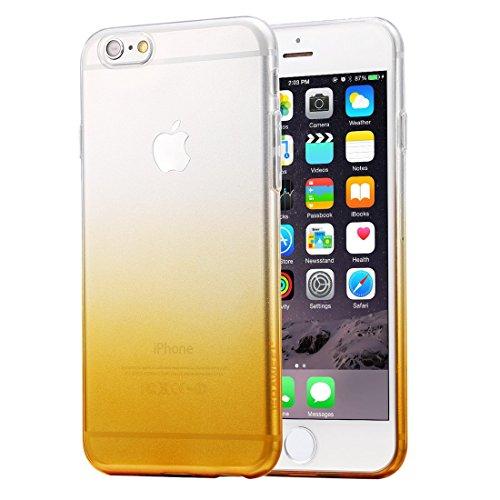 HAWEEL® Ultra Slim Gradient Color Clear Soft TPU Case for iPhone 6 & 6s(Orange)
