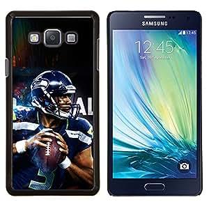 Qstar Arte & diseño plástico duro Fundas Cover Cubre Hard Case Cover para Samsung Galaxy A7 A7000 (3 Seahawk jugador)