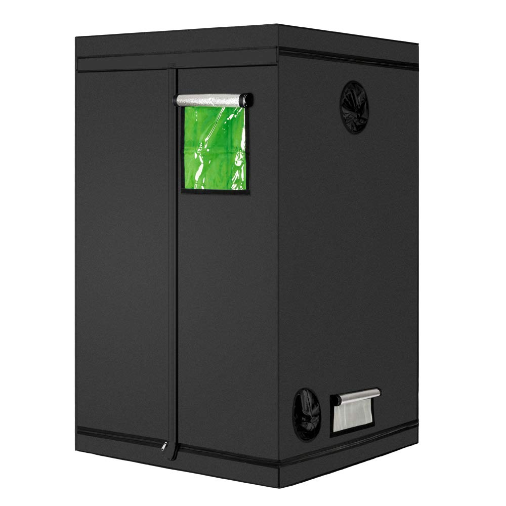 Grow Tent Oxford Hydro Box with Observation Window Tool Bag and Floor Tray for Indoor Plant Growing Mulple 120x120x200CM 47x47x80