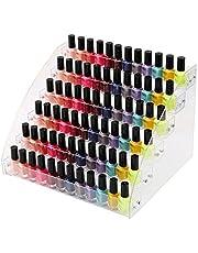 Neckip Grote 2-7 Tier Acryl Nagellak Stand | Houdt tot 84 Nagellak | Retail Cosmetische Display | Make-up Opbergrek