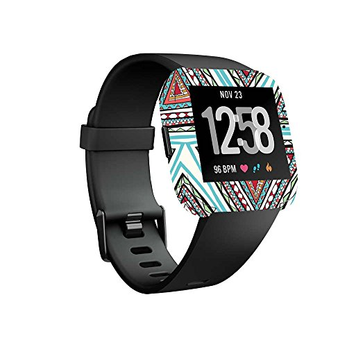 Wristband Pyramid (MightySkins Skin for Fitbit Versa Smartwatch - Aztec Pyramids Protective, Durable, and Unique Vinyl Decal wrap Cover | Easy to Apply, Remove, and Change Styles | Made in The USA)