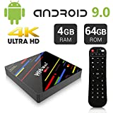 Newest Android 9.0 TV Box 4GB 64GB EstgoSZ H96 Max+ Android TV Box RK3328 Support H265 VP9 Video Decoding /2.4G 5G Wifi/100M LAN/Bluetooth/KD18.0 USB3.0 Smart 4K Android Box
